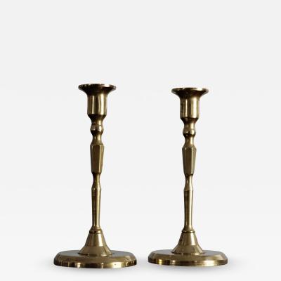 Italian solid brass candlesticks
