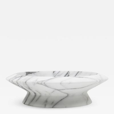 Ivan Colominas Amaltea Centerpiece in White Arabescato Marble