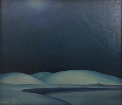 Ivan Messenger Ivan Messenger Desert Scene Oil Painting 1955