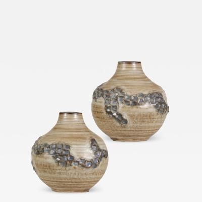 Ivan Weiss Pair of Vases with Abstracted Festooning by J rgen Mogensen