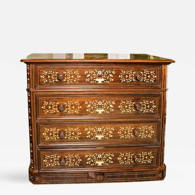 Ivory Inlaid Chest of Drawers in the Italian Style