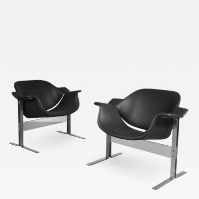 J B Meyer J B Meyer Lounge Chairs for Kembo Netherlands 1960s