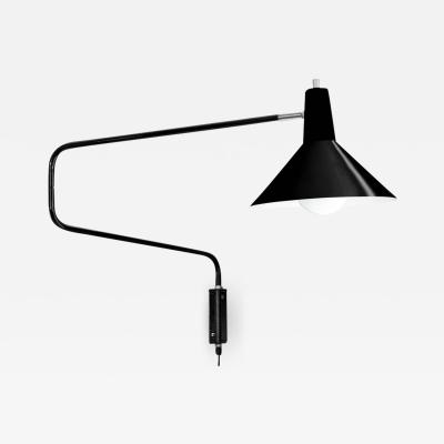 J J M Hoogervorst J J M Hoogervorst Black Paperclip Wall Light for Anvia