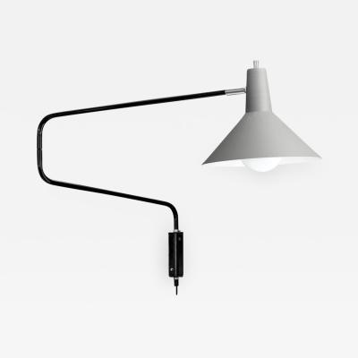 J J M Hoogervorst J J M Hoogervorst Gray Paperclip Wall Light for Anvia