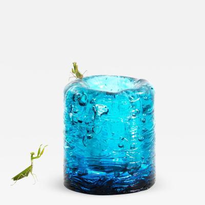 J Jungle Azzurro Vase