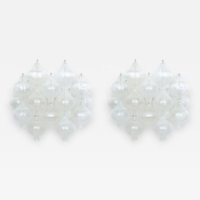 J Kalmar Pristine Pair of J T Kalmar Glass Wall Lights