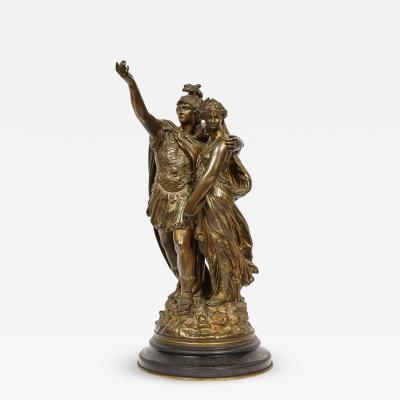 J L Gregoire A French Bronze Figural Group Orestes Iphigenia