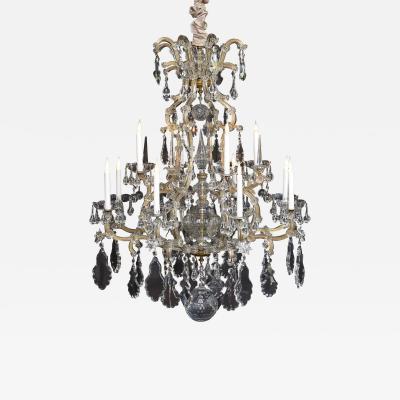 J L Lobmeyr 19th c large crystal chandelier Jos Zahn Co Vienna Lobmeyr