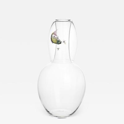 J L Lobmeyr Balloon Drinking Set No 279 Bedside Carafe with Fish Glass by Ted Muehling