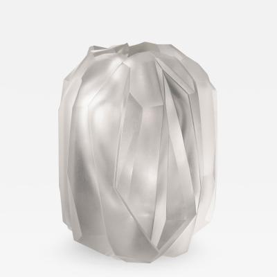 J L Lobmeyr Gletscher Vase by Sebastian Menschhorn
