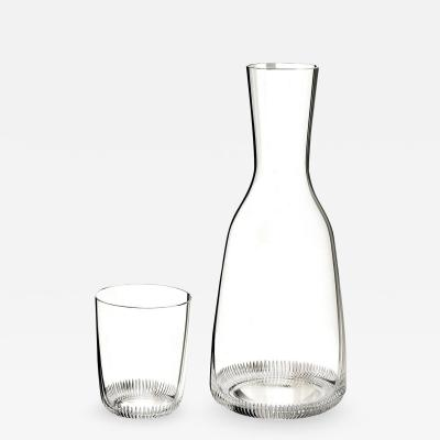 J L Lobmeyr Grip Drinking Set No 281 Wine Decanter Glass by Marco Dess