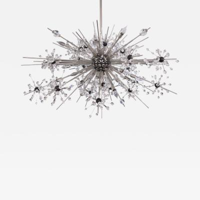 J L Lobmeyr J L Lobmeyr Starburst Chandelier In Chrome With Cut Crystals 2008