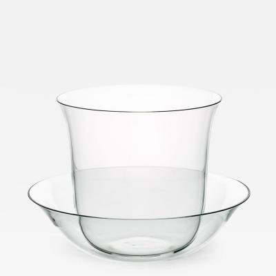 J L Lobmeyr Lily Crystal Tea Cup Saucer by KIM HEEP