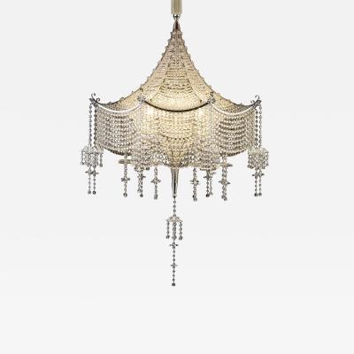 J L Lobmeyr Pagoda Chandelier by Carl Witzmann