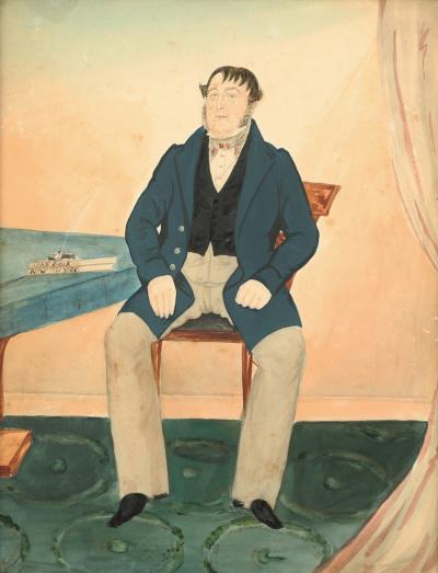 J N Crammer Portrait of E Parker