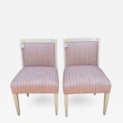 J Robert Scott Art Deco Style Sally Sirkin Lewis J Robert Scott Slipper Chairs a Pair