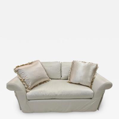 J Robert Scott J Robert Scott Silk Upholstered Down Filled Lovseat Sofa