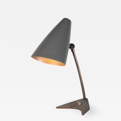J T Kalmar 1950s J T Kalmar Gray Table Lamp