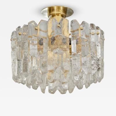 J T Kalmar Exceptional Kalmar Ice Crystal Flush Mount Chandelier
