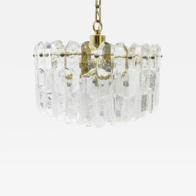 J T Kalmar Glass and Brass Chandelier by Kalmar Austria