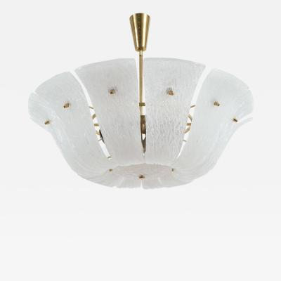J T Kalmar Impressive Chandelier with Curved and Textured Glass
