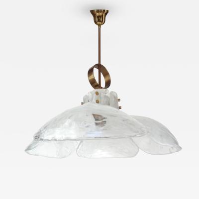 J T Kalmar J T Kalmar Brass and White Glass Fixture