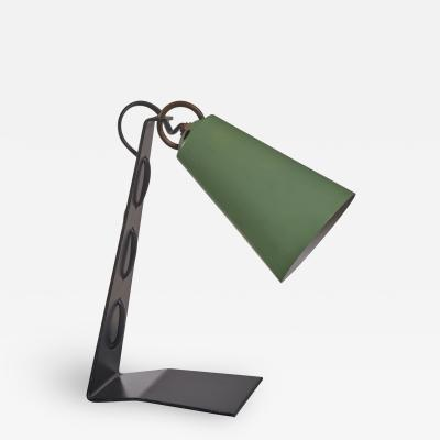 J T Kalmar Kalmar black and green metal table lamp