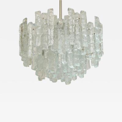 J T Kalmar Large Kalmar Ice Glass Chandelier