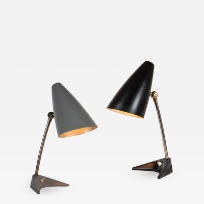 J T Kalmar Pair of 1950s J T Kalmar Table Lamps