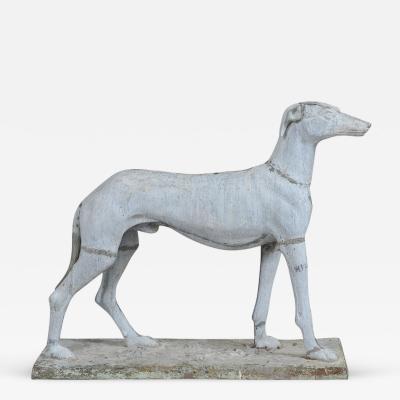 J W Fiske Standing Greyhound