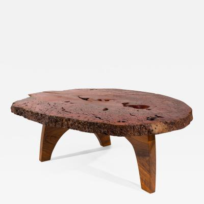 J rg Pietschmann Dark Red Signed Table by J rg Pietschmann