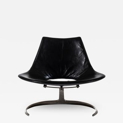 J rgen Kastholm Preben Fabricius Easy Chair Model Scimitar Produced by Ivan Schlecter