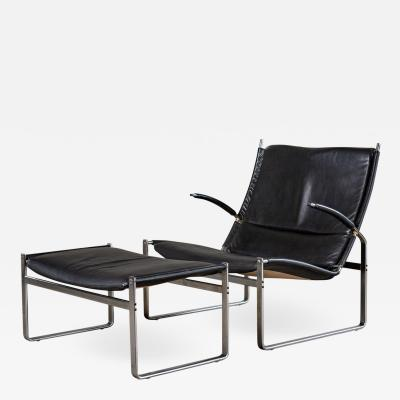 J rgen Kastholm Preben Fabricius FABRICIUS AND KASTHOLM LOUNGE CHAIR AND OTTOMAN