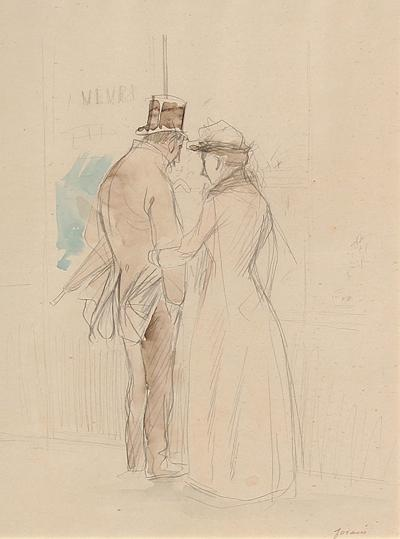 JEAN LOUIS FORAIN An Intimate Moment