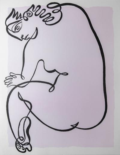 JEAN NEGULESCO JEAN NEGULESCO CONTINUOUS LINE DRAWINGS PINK