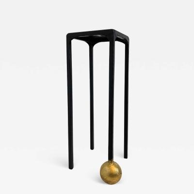 JM Szymanski Table No 2 Gilded Pedestal by JM Szymanski