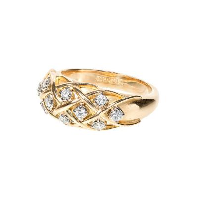 Jabel 25 Carat Diamond Gold Dome Ring circa 1960