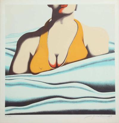 Jack Brusca The Beach Serigraph by Jack Brusca