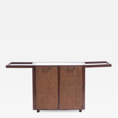 Jack Cartwright Mid Century Modern Rosewood Bar Serving Cart by Jack Cartwright for Founders