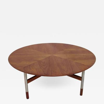 Jack Cartwright Midcentury Walnut and Steel Coffee Table Jack Cartwright for Founders