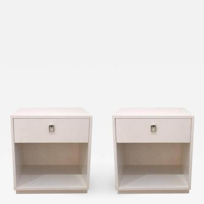 Jack Cartwright Pair of White Nightstands