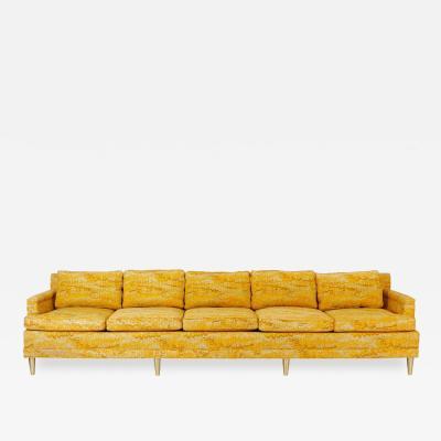 Jack Lenor Larsen Jack Lenor Larsen 5 Seat Sofa on Brass Legs