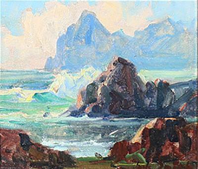 Jack Wilkinson Smith Coastal Scene with Clouds