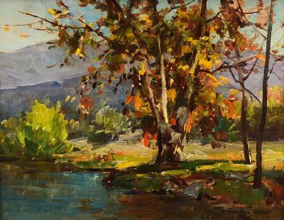 Jack Wilkinson Smith Landscape with Fall Trees and Pond