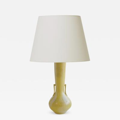 Jacob Bang Table Lamp in a Lyrical Qing Dynasty Style in Mustard Harefur by Jacob Bang
