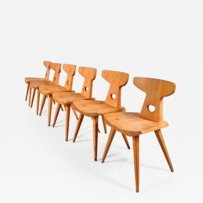 Jacob Kielland Brandt 1960s Set of Six Dining Chairs by Jacob Kielland Brandt for I Christiansen