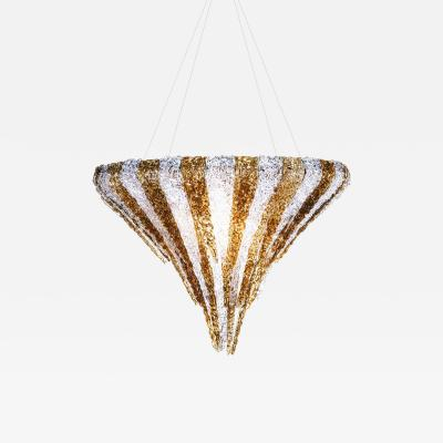 Jacopo Foggini Vertigo Chandelier Transparent Ambra