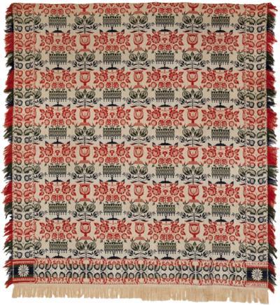 Jacquard Coverlet made for Manassa Warheim