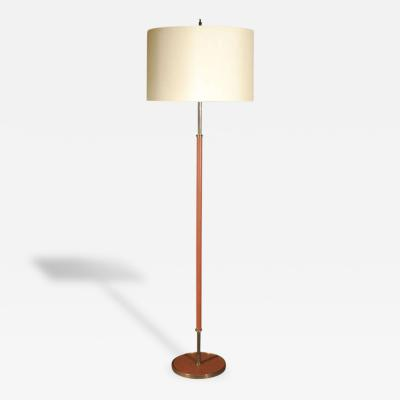 Jacques Adnet 1950s Leather Floor Lamp by Jacques Adnet