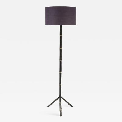 Jacques Adnet 1950s Stitched floor lamp By Jacques Adnet